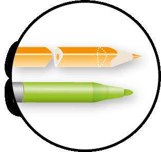 Crayons et feutres haute qualité