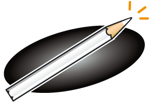 Crayon blanc pour ardoise noire